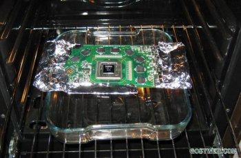 Видеокарта компьютера заработает… после прожарки в духовке