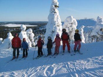 Зимний отдых с детьми в Финляндии