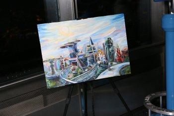 В телебашне Останкино прошло открытие выставки молодых художников