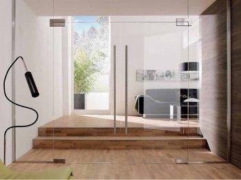 Типы открывания, цены на стеклянные двери