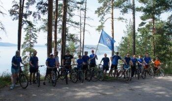 Работники МЧС Челябинской области совершили велопробег вокруг Тургояка