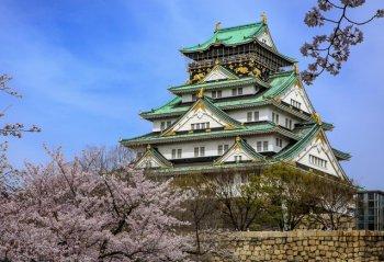 Замок в Осаке историческая достопримечательность Японии